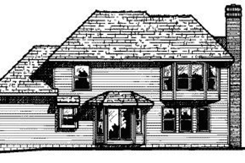 Traditional Exterior - Rear Elevation Plan #20-617 - Houseplans.com