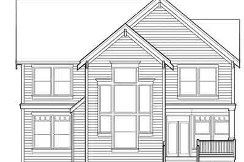 Traditional Exterior - Rear Elevation Plan #48-208 - Houseplans.com