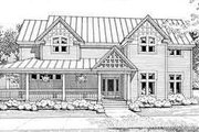 Farmhouse Style House Plan - 4 Beds 3 Baths 3444 Sq/Ft Plan #120-102 Exterior - Front Elevation
