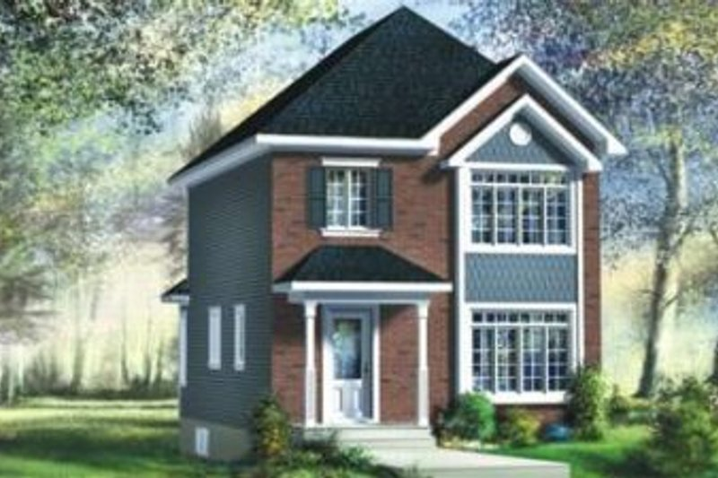 European Style House Plan - 3 Beds 1.5 Baths 1195 Sq/Ft Plan #25-4014 Exterior - Front Elevation