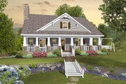Cottage Style House Plan - 3 Beds 2.5 Baths 1666 Sq/Ft Plan #56-627 Exterior - Front Elevation