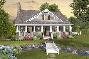 Cottage style home, bungalow design, front elevation
