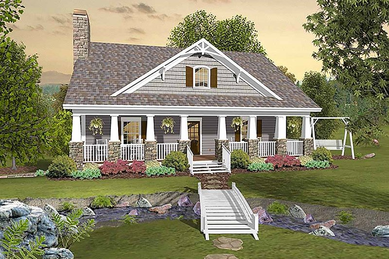 Cottage Style House Plan - 3 Beds 2.5 Baths 1666 Sq/Ft Plan #56-627