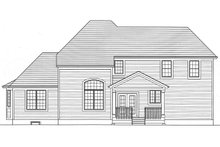 House Plan Design - Country Exterior - Rear Elevation Plan #46-793