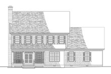 Colonial Exterior - Rear Elevation Plan #137-288