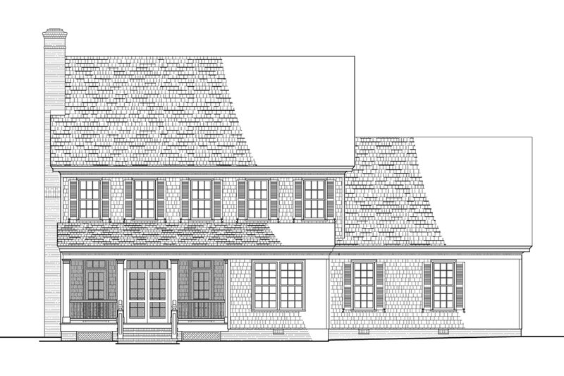 Colonial Exterior - Rear Elevation Plan #137-288 - Houseplans.com