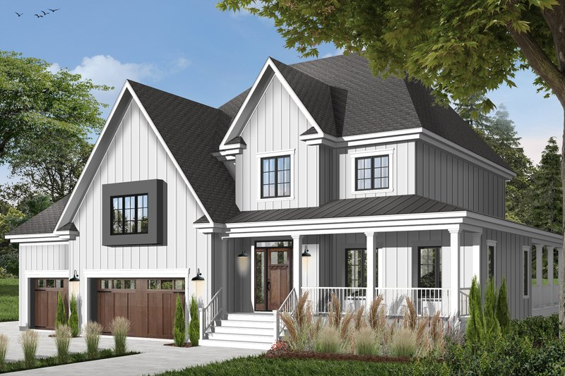 House Design - Country Exterior - Front Elevation Plan #23-406