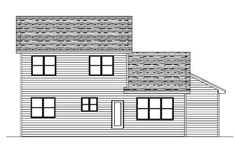 Traditional Exterior - Rear Elevation Plan #51-375 - Houseplans.com