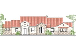 Dream House Plan - Mediterranean Exterior - Front Elevation Plan #80-179