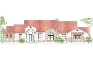 Architectural House Design - Mediterranean Exterior - Front Elevation Plan #80-179