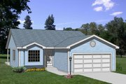 Traditional Style House Plan - 3 Beds 2 Baths 1223 Sq/Ft Plan #116-206 Exterior - Front Elevation