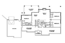 European Floor Plan - Lower Floor Plan Plan #5-350