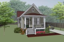 Cottage Exterior - Front Elevation Plan #79-104