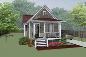 Dream House Plan - Cottage Exterior - Front Elevation Plan #79-104