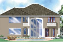 Classical Exterior - Rear Elevation Plan #930-288