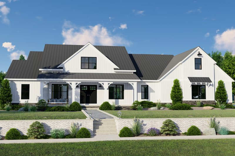 Farmhouse Style House Plan - 3 Beds 2.5 Baths 4364 Sq/Ft Plan #1064-122