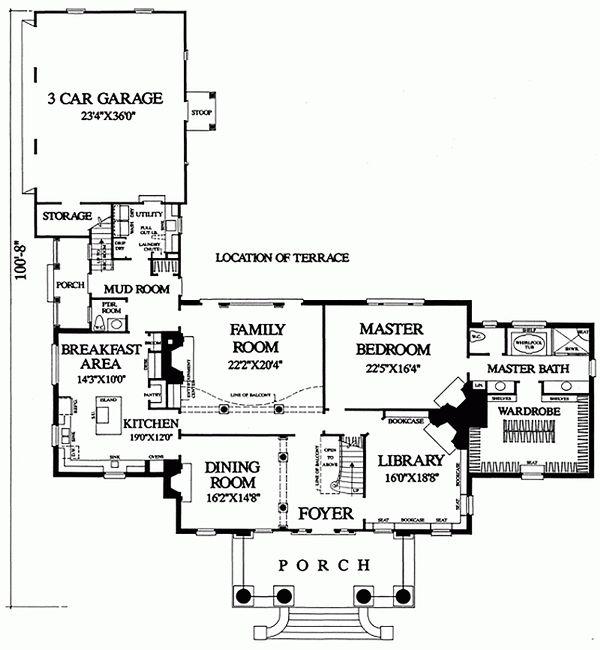 Southern Floor Plan - Main Floor Plan Plan #137-120