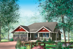 Country Exterior - Front Elevation Plan #25-4449
