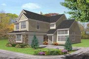 Traditional Style House Plan - 4 Beds 3 Baths 2255 Sq/Ft Plan #50-280 Exterior - Front Elevation