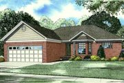 Traditional Style House Plan - 3 Beds 2 Baths 1463 Sq/Ft Plan #17-2281 Exterior - Front Elevation