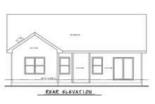 House Plan Design - Craftsman Exterior - Rear Elevation Plan #20-2405