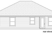 Craftsman Style House Plan - 3 Beds 1 Baths 1194 Sq/Ft Plan #84-582 Exterior - Rear Elevation