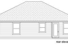 House Plan Design - Craftsman Exterior - Rear Elevation Plan #84-582