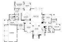 European Floor Plan - Main Floor Plan Plan #48-962