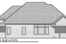 Dream House Plan - Traditional Exterior - Rear Elevation Plan #70-726