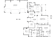 Craftsman Style House Plan - 4 Beds 3.5 Baths 3346 Sq/Ft Plan #48-548 Floor Plan - Main Floor Plan