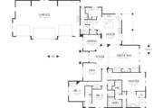 Craftsman Style House Plan - 4 Beds 3.5 Baths 3346 Sq/Ft Plan #48-548 Floor Plan - Main Floor