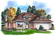 Traditional Style House Plan - 2 Beds 2 Baths 1457 Sq/Ft Plan #18-1006
