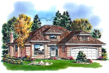 Traditional Exterior - Front Elevation Plan #18-1006