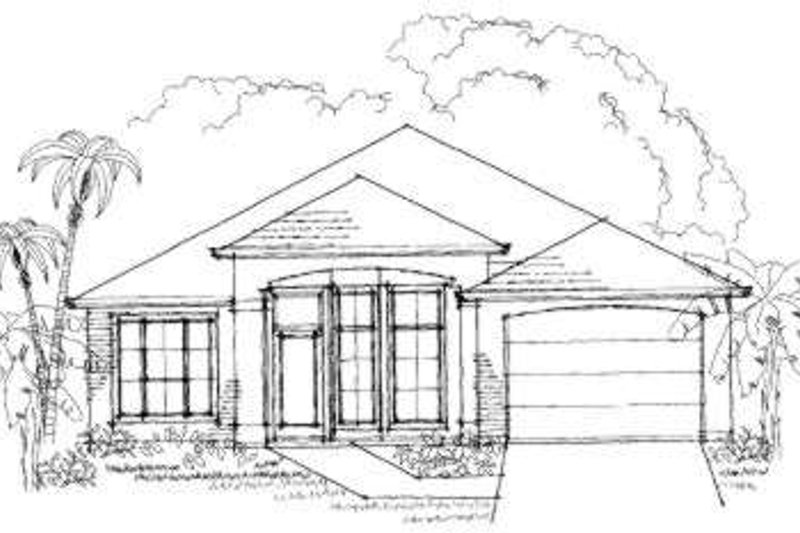 Traditional Style House Plan - 3 Beds 2 Baths 1668 Sq/Ft Plan #325-111 Exterior - Front Elevation
