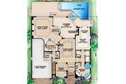 European Style House Plan - 4 Beds 3.5 Baths 3736 Sq/Ft Plan #27-424