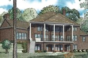 European Style House Plan - 6 Beds 7.5 Baths 9536 Sq/Ft Plan #17-2460 Exterior - Rear Elevation