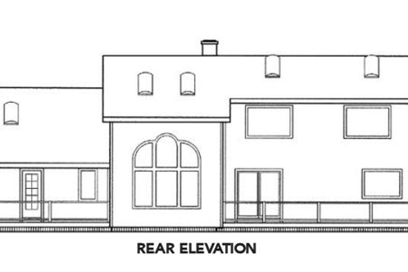 Traditional Exterior - Rear Elevation Plan #60-242 - Houseplans.com