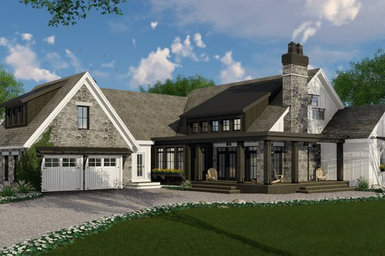 Farmhouse Exterior - Front Elevation Plan #51-1133