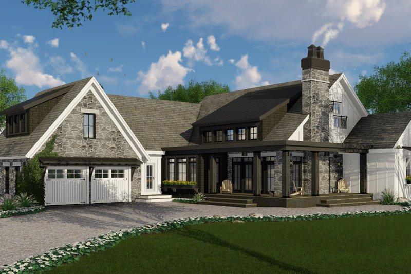 Dream House Plan - Farmhouse Exterior - Front Elevation Plan #51-1133