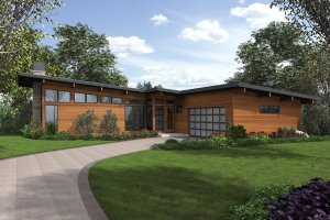 Contemporary Exterior - Front Elevation Plan #48-1001