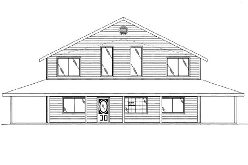 Bungalow Style House Plan - 3 Beds 3 Baths 2842 Sq/Ft Plan #117-611 Exterior - Front Elevation