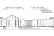 Home Plan - Traditional Exterior - Rear Elevation Plan #5-121