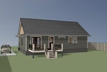House Plan Design - Country Exterior - Rear Elevation Plan #79-118