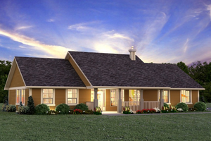 House Blueprint - Ranch style Plan 427-6 front elevation