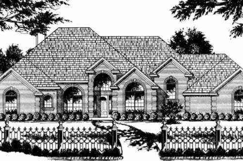 Traditional Exterior - Other Elevation Plan #40-197 - Houseplans.com