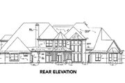European Style House Plan - 4 Beds 4.5 Baths 4995 Sq/Ft Plan #141-218 Exterior - Rear Elevation