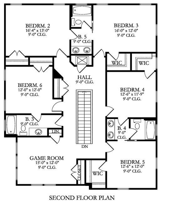 Farmhouse Floor Plan - Upper Floor Plan Plan #1058-176