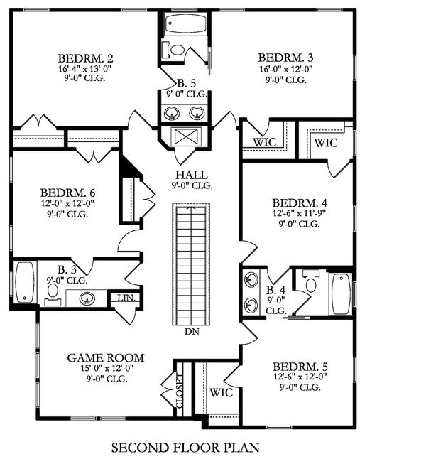 Farmhouse Floor Plan - Upper Floor Plan Plan #1058-176
