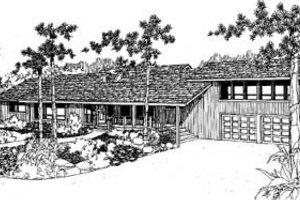 Modern Exterior - Front Elevation Plan #60-307