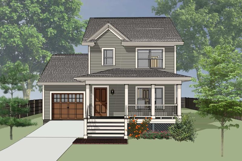 Dream House Plan - Farmhouse Exterior - Front Elevation Plan #79-124